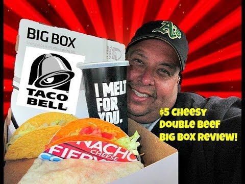 Taco Bell® $5 Cheesy Double Beef Burrito Big Box REVIEW!