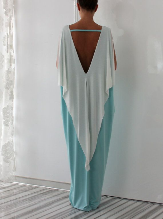 Mint Backless dress Maxi Dress Caftan Plus door cherryblossomsdress