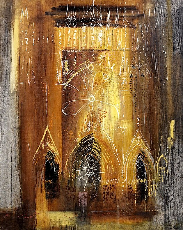 Twentieth century British artist John Piper (1903-1992) continues to pay tribute to this jewel of medieval French architecture... Light-filled Reims Cathedral, Marne, France