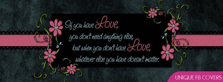 Facebook Timeline Love Quote Valentines Day Best Banner Photo Facebook Cover