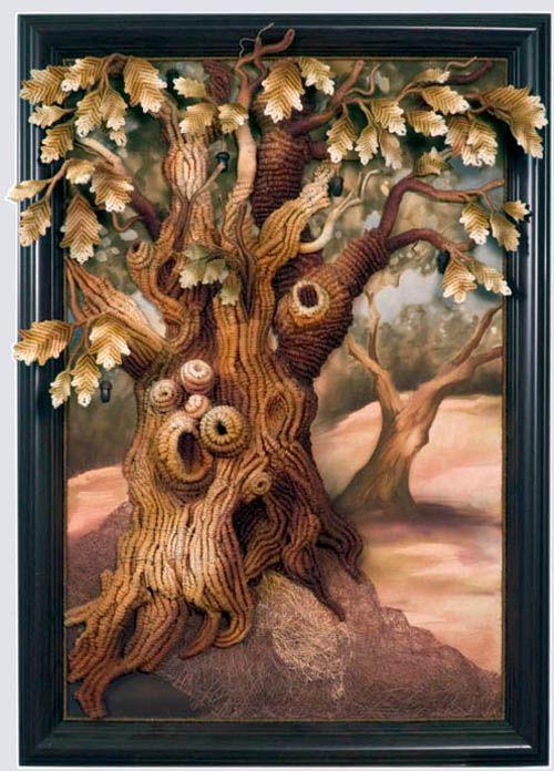 Inspiration ... Macrame from Gutowski Edvardovich Sergey and Lyudmila Vitalievna. The trees are fantastic!