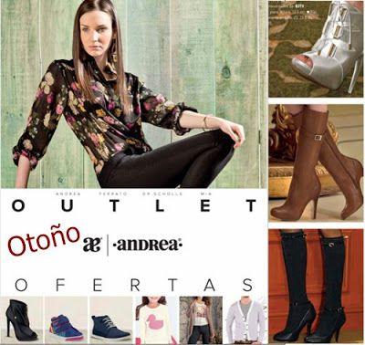 outlet andrea ofertas otoño 2016. Hojea zapatos andrea y ropa de moda, lenceria mia, botas, tenis y mas