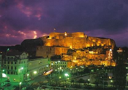 Corfu Town.  Corfu, Greece