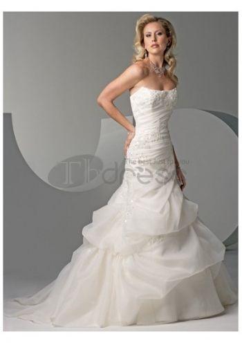 Casuali luminoso a-line abiti da sposa 2012 senza spalline