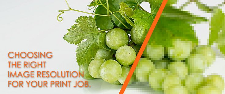 We help you to choose the right image resolution for your print job.