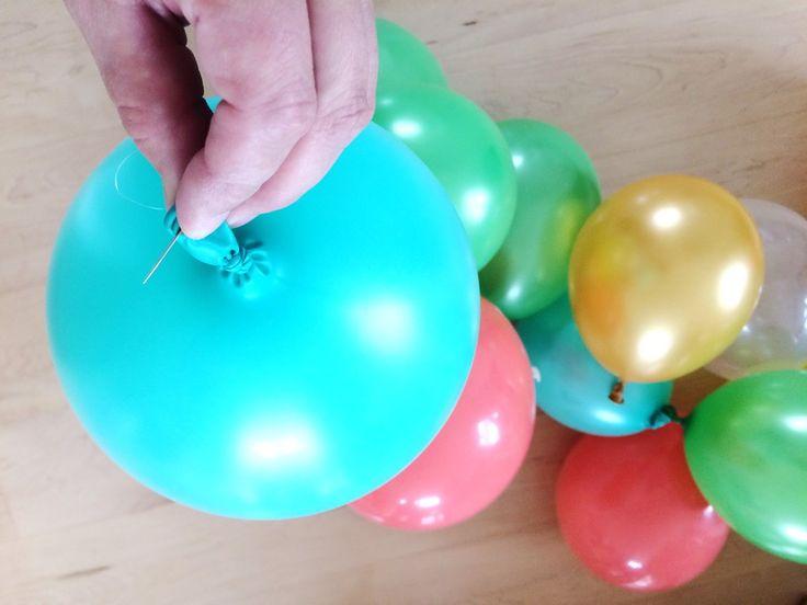 Ballongirlande   Ballonbogen   DIY   Anleitung   Partydeko   Partydekoration   Geburtstag   Hochzeit   www.benbino.com