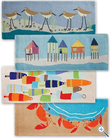 Hable Hooked Wool Rug I love these and they are on sale for $100 off at Garnet Hill!!!  ARRRRGH