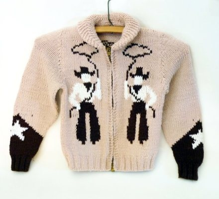 1950s – childs vintage cowichan style sweater