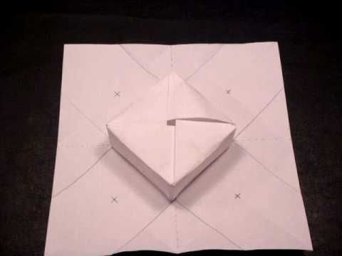 In this tutorial, I will explain step-by-step how to create the origami gift box (designed by Marc Vigo Anglada in 1996).  It is perfect for a personalized present  or holiday gift  :-D    We must first have a square piece of paper.  I will be using printer paper, but if you have origami paper, that will be fine as well.    We will first create fold...