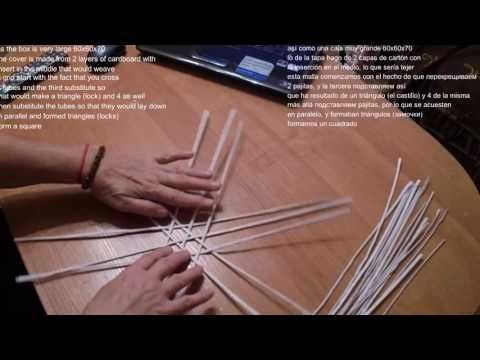 Как закрепить крышку на коробке, загибка розга, японский мотив в плетении из бумаги | oblacco