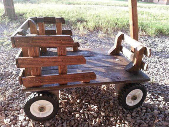 Handmade Wooden Wagon by TexomaWoodWorks on Etsy, $225.00