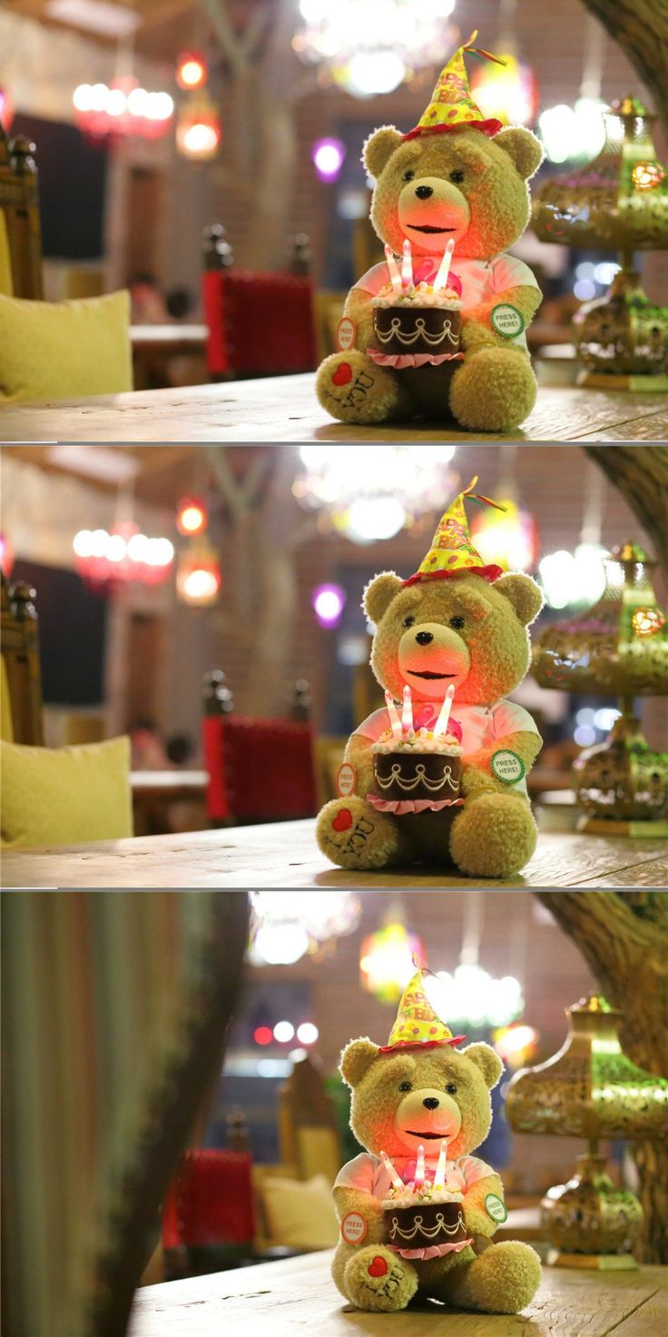 """20""""/ 50CM SITTING HEIGHT  TALKING   TEDDY BEAR WITH MOVING MOUTH SINING HAPPY BIRTHDAY SONG  AND RECORDING TOY GIFTGIVING"""