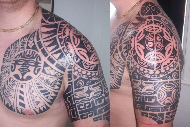https://flic.kr/p/6bgsnR | Tribal Shoulder Tattoo | Complex tattoo on the shoulder and arm, with a very tight tribal design.
