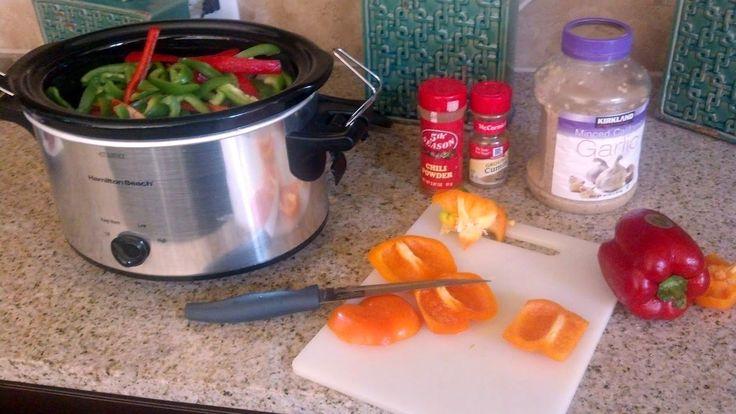 Techifitness: Slow Cooker Chicken Fajitas - 21 Day Fix Style