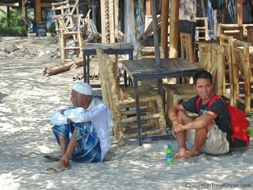 Locals relaxing in shade