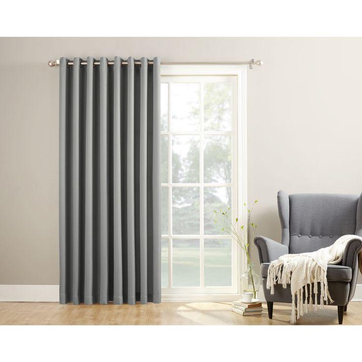 No. 918 Montego Patio Extra Wide Casual Textured Grommet Patio Door Curtain Panel (