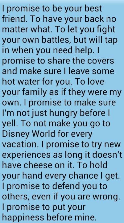 I Love How Light Hearted These Vows Are Adding In Personal Promises That Exclusive