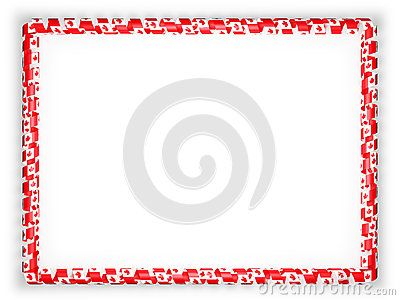 Frame and border of ribbon with the Canada flag. 3d illustration.