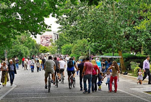 Athens strolls on Sunday morning