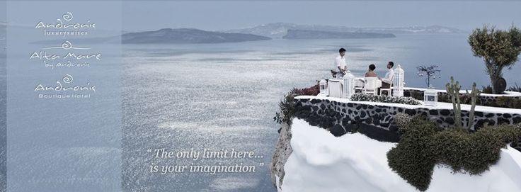 Dining at the edge of the cliff... #AndronisExclusive #Santorini #LuxurySantorini