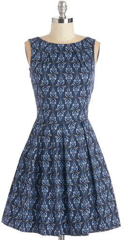 Dress in Deco Flowers #Vintage #1960s #60s #Mods