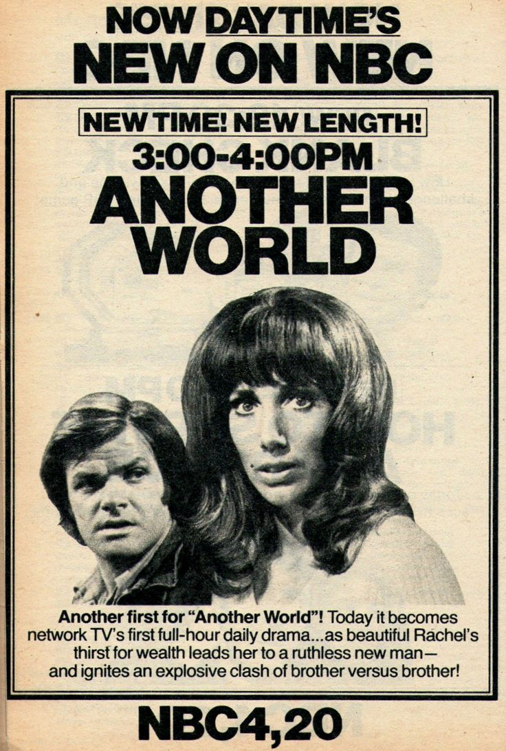 another world soap opera | : ANOTHER WORLD expanded to an hour full-time, the first daytime soap ...