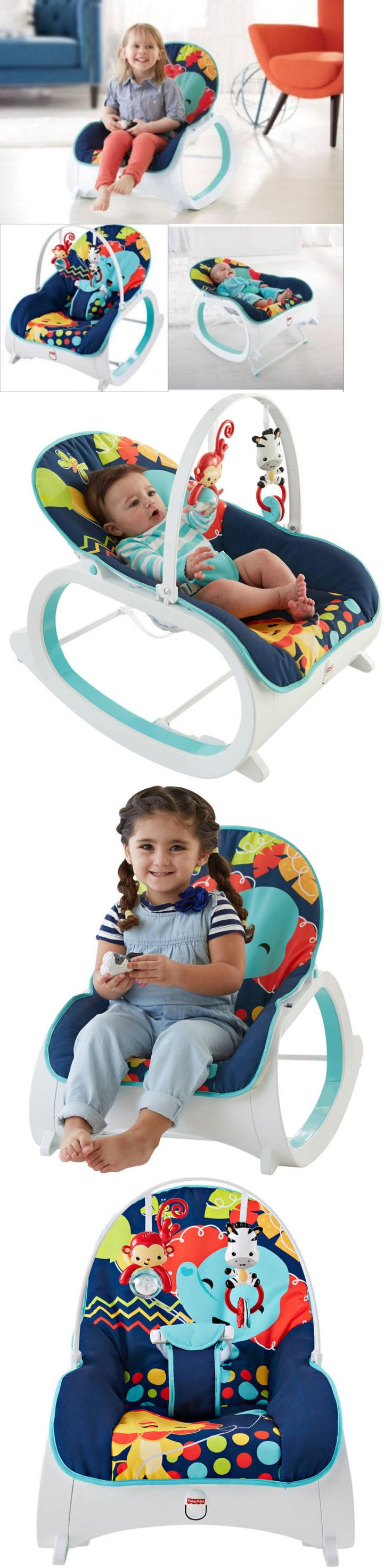 baby kid stuff: Baby Bouncer 2 In 1 Infant Toddler Rocker Soft Sleeper Chair Toy Bar Play Seat BUY IT NOW ONLY: $55.91