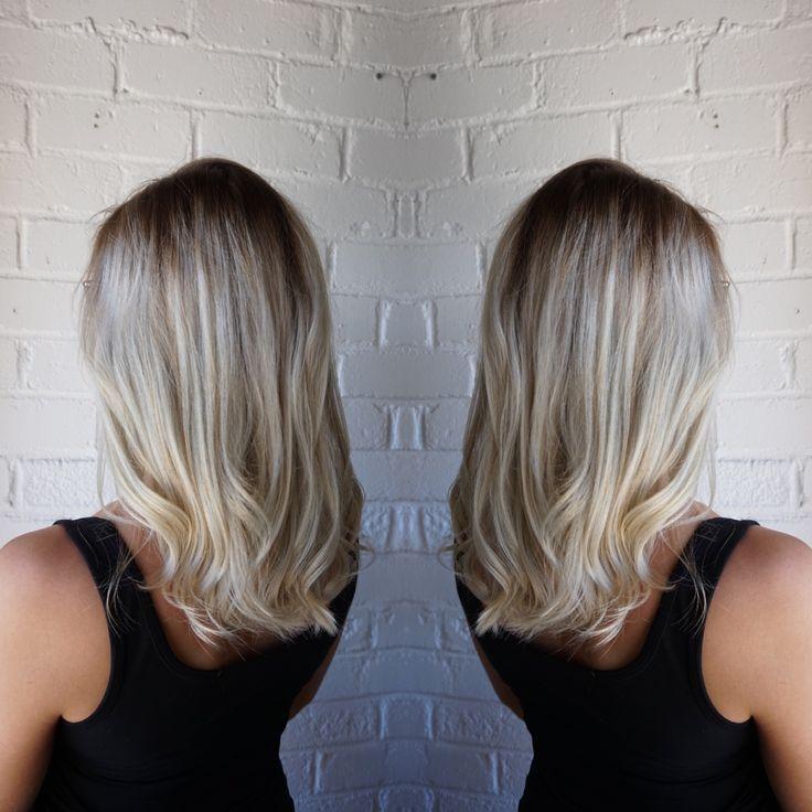 Root fade on a silver blonde #silverhair #rootfade #theblacksheepsalon