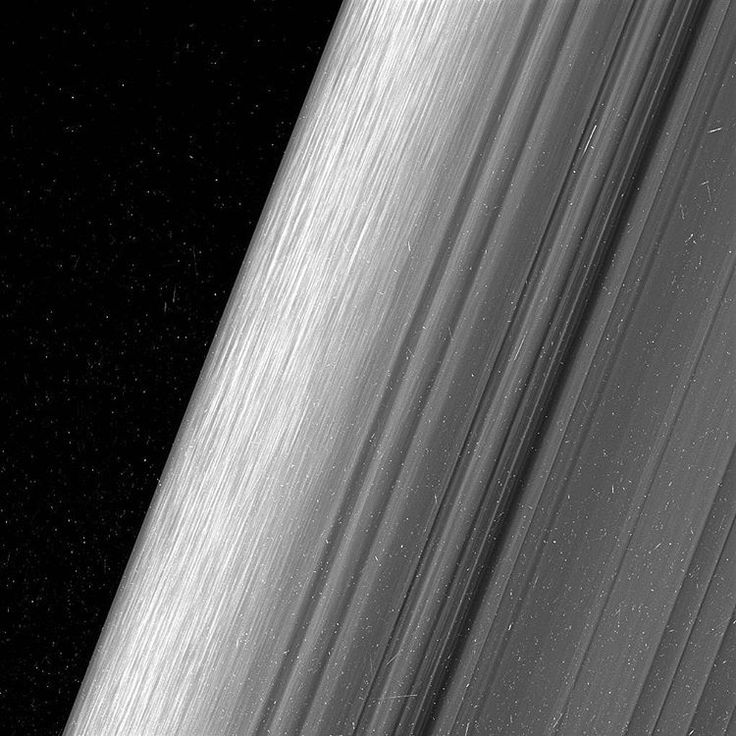 How beautiful is this photo of Saturn's outer ring? Taken by @nasa's Cassini spacecraft, you can even see details of the icy particles that make up the rings.  Photo credit: NASA/JPL-Caltech/Space Science Institute