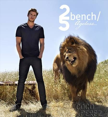 Liam Hemsworth stars in Bench's new ad campaign.