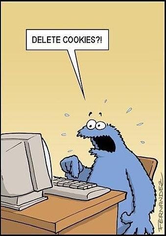 Funny Picture - Delete Cookies?  Cookie Monster Sesame Street