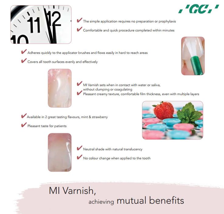 #MIVarnish, achieving mutual benefits It is ideal for all patients at risk for hypersensitivity. It helps to make fluoride more bioavailable in order to gain that extra boost of protection from the calcium and phosphate.