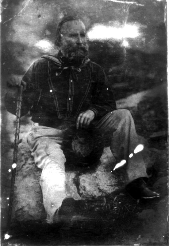 Ambrotipia, Giuseppe Garibaldi.