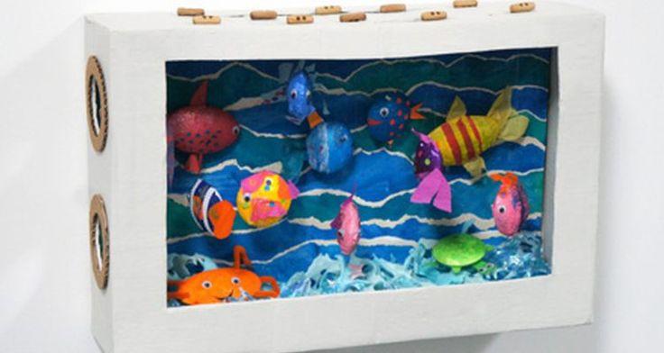 Een mooi aquarium maken met vissen die ook echt kunnen bewegen! Leuk voor bijvoorbeeld een #surprise voor #Sinterklaas of als knutselproject op school