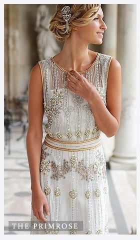 Vicky Rowe Vintage Wedding Dresses- Show to Amber! Great Great Gatsby Wedding Dress