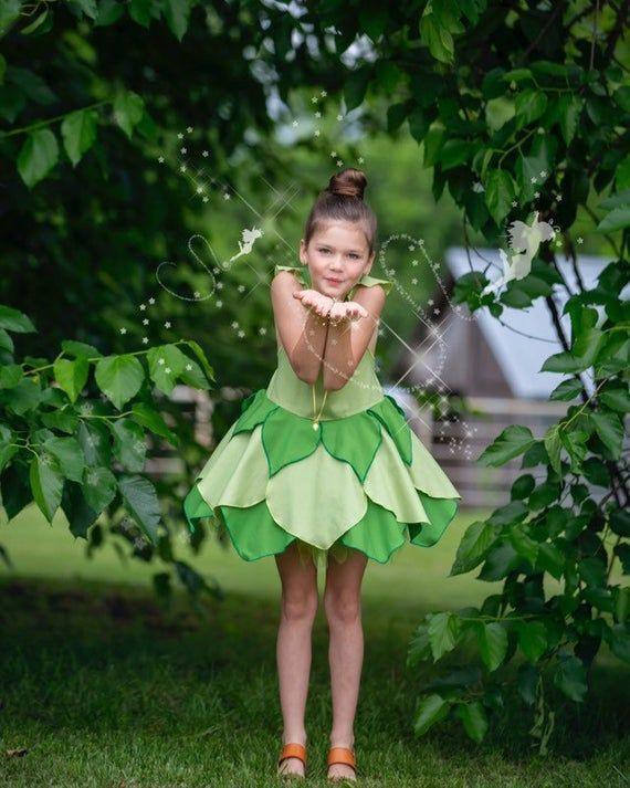 Girls Tinkerbell Dress Green Fairy Costume Toddler Tinkerbell Costume Girls Fairy Dress Fairy Pa Tinkerbell Dress Fairy Dress Tinkerbell Costume Toddler
