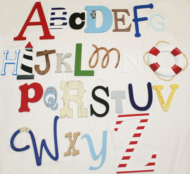 Nautical Alphabet package for a nursery or big boy room! LOVE THIS!
