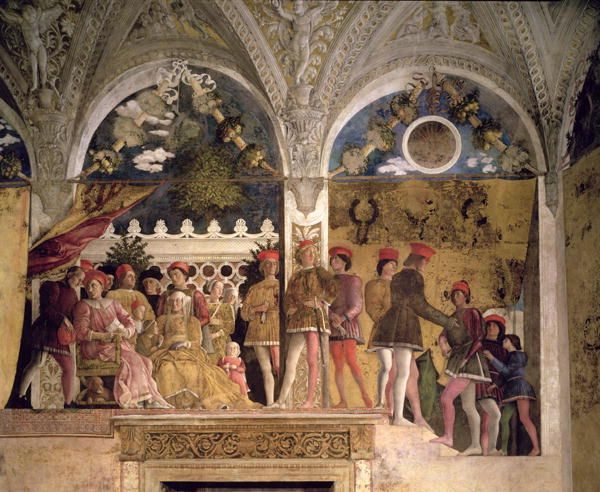 Ludavico gonzaga his family and court andrea mantegna for Andrea mantegna camera degli sposi