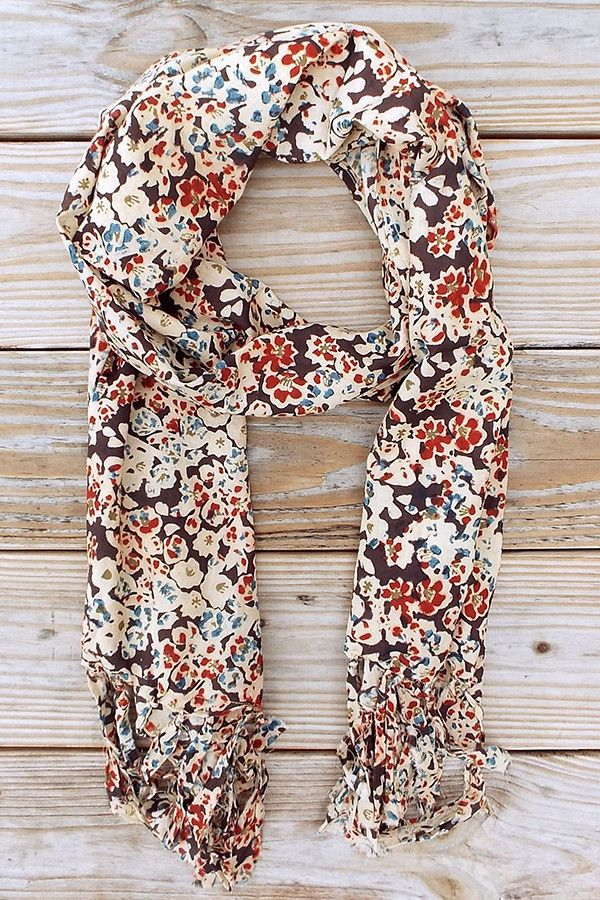 Floral Pop Scarf. I love floral prints as a statement for an outfit like this scarf.