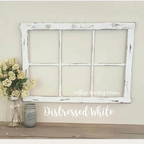 To View All Of Our Products Click Here Https Www Etsy Com Shop Cottagecountrycorner Ref Seller Platf Window Frame Decor Frame Wall Decor Rustic Window Frame