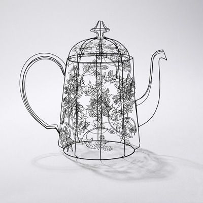 artwork by cathy miles #teapot #art #craft