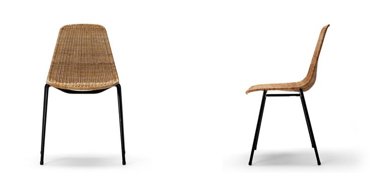 Basket chair - rattan stacking chair by Gian Franco Legler