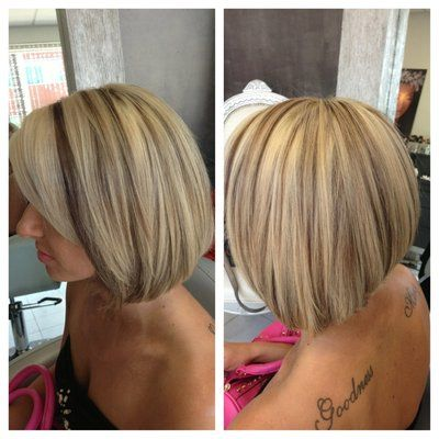 blonde high and low lights short style | low-lights on blonde hair | Yelp