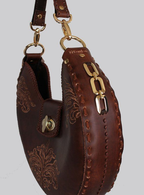 Tooled Leather Handbag Turner  9690b8845e985