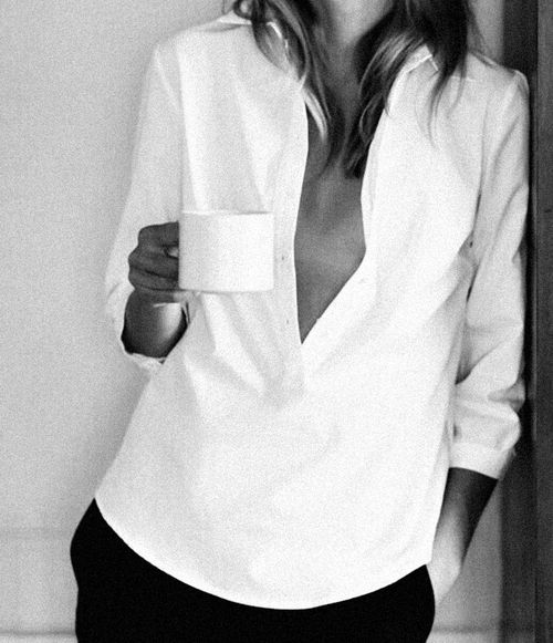 white button down-casual for coffee