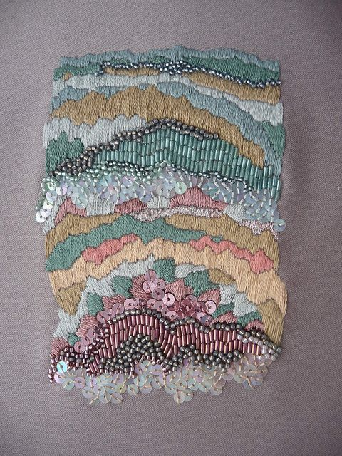 Satin stitches & bead work by Anna Jane Searle, Untitled, 2011
