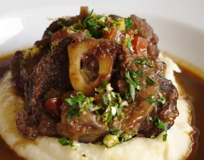 Osso Bucco Serve On Mashed Potato Milanese Risotto Or Soft Polenta Recipe Osso Bucco Recipe Osso Bucco Slow Cooker Veal Recipes