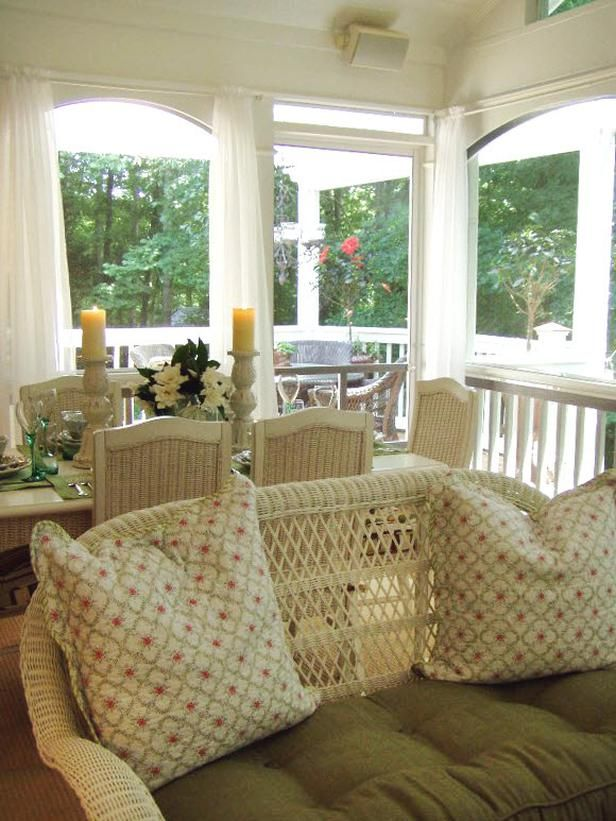 133 best images about decks porches patios on pinterest for Screen porch window treatments