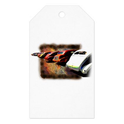 Rusty Car Line Up Gift Tags - antique gifts stylish cool diy custom