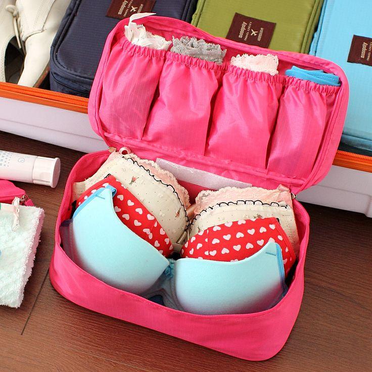 Underwear storage box portable cosmetic bag